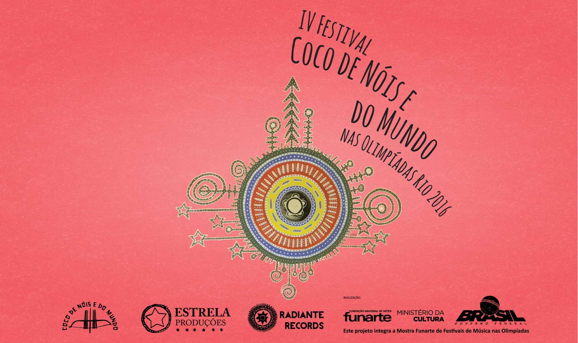 Banner do 4º Festival Coco de Nóis e do Mundo nas Olimpíadas Rio 2016