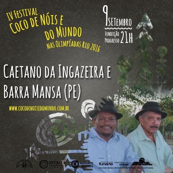 Card CAETANO DA INGAZEIRA E BARRA MANSA - FUNDIÇÃO PROGRESSO _ RJ